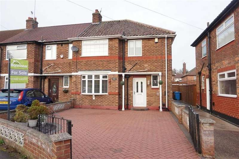 3 Bedrooms End Of Terrace House for sale in Rokeby Avenue, West Hull, Hull, HU4