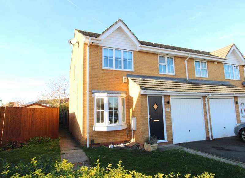 3 Bedrooms End Of Terrace House for sale in Lindisfarne Close, Sandy SG19
