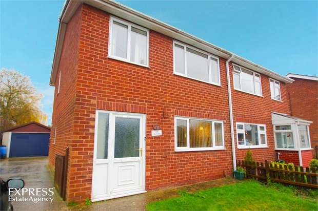3 Bedrooms Semi Detached House for sale in Lime Crescent, Waddington, Lincoln