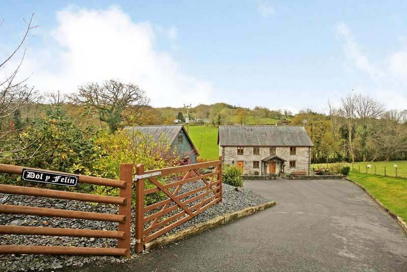 4 Bedrooms Barn Conversion Character Property for sale in Penegoes, Machynlleth, Powys