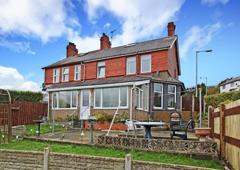4 Bedrooms Semi Detached House for sale in Penchwintan Road, Bangor, North Wales