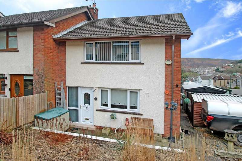 2 Bedrooms Semi Detached House for sale in Florence Close, Abertillery, NP13 1ES