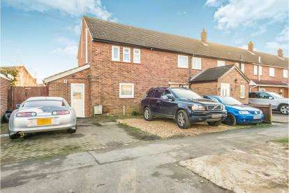 3 Bedrooms End Of Terrace House for sale in Stirling Road, Shortstown, Bedford, Bedfordshire