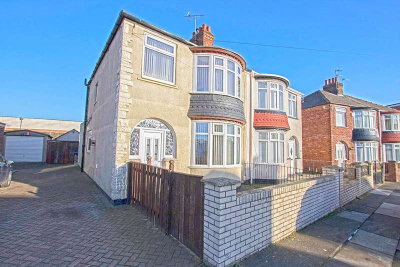3 Bedrooms Semi Detached House for sale in Hutton Road, Longlands, Middlesbrough TS4