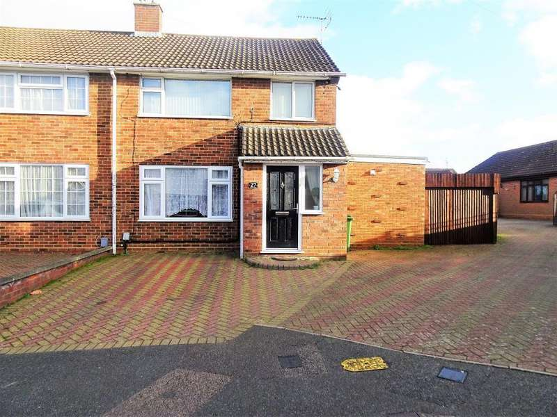 3 Bedrooms Semi Detached House for sale in Ashfield Way, Luton, LU3 2UN
