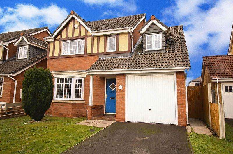 4 Bedrooms Detached House for sale in Wrenbury Drive, Bilston, WV14 7BS
