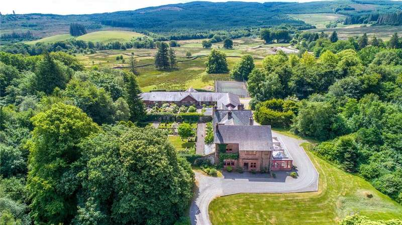 9 Bedrooms Equestrian Facility Character Property for sale in Slogarie House, Mossdale, Castle Douglas, Kirkcudbrightshire, DG7