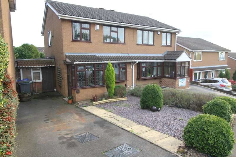 3 Bedrooms Semi Detached House for sale in Rowanburn Close, Longton, Stoke-On-Trent, ST3