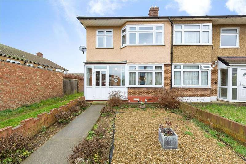 3 Bedrooms End Of Terrace House for sale in Rosemary Gardens, Dagenham, RM8