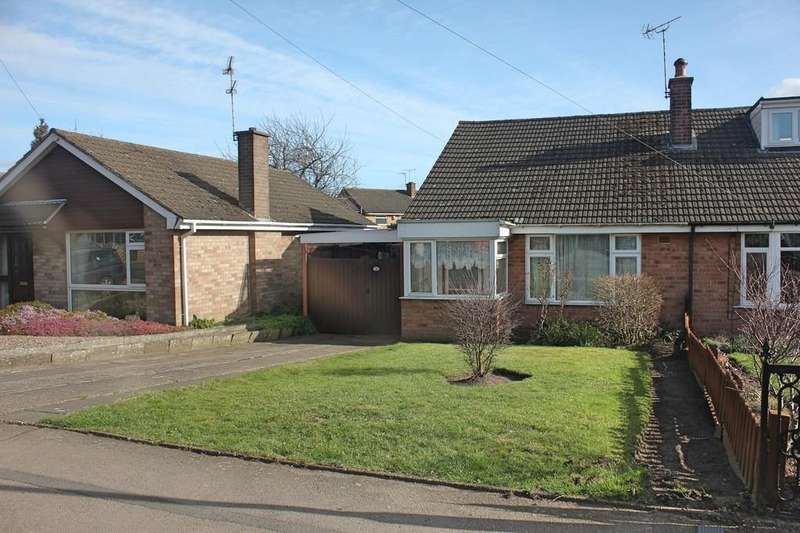 2 Bedrooms Semi Detached Bungalow for sale in Coleridge Drive, Enderby, Leicester