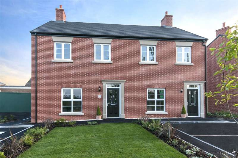 3 Bedrooms Semi Detached House for sale in The Hatfield, Plot 2, Deer Park Lane, Off Coach Road, Ripley
