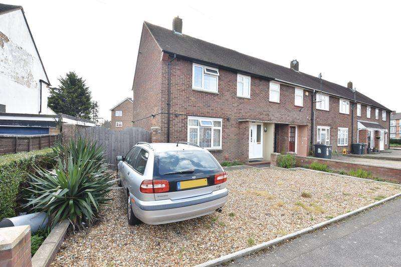 3 Bedrooms End Of Terrace House for sale in Northdrift Way, Luton