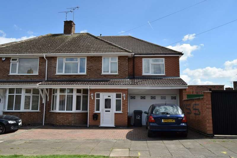 5 Bedrooms Semi Detached House for sale in Earlswood Road, Evington, Leicester