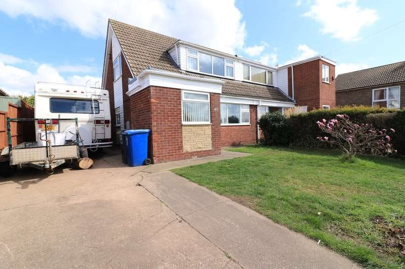 2 Bedrooms Semi Detached House for sale in Dar Beck Road, Scotter, Gainsborough, Lincolnshire, DN21