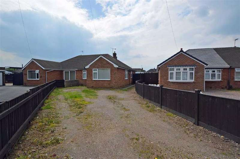 3 Bedrooms Semi Detached Bungalow for sale in Belvoir Drive, Syston