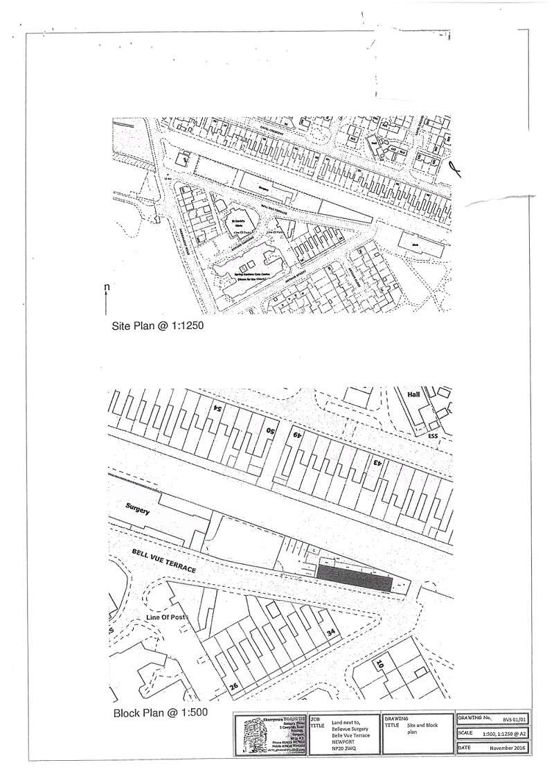 Plot Commercial for sale in Adjacent to Belle Vue Surgery , Bell Vue Terrace, Newport. NP20 2WQ