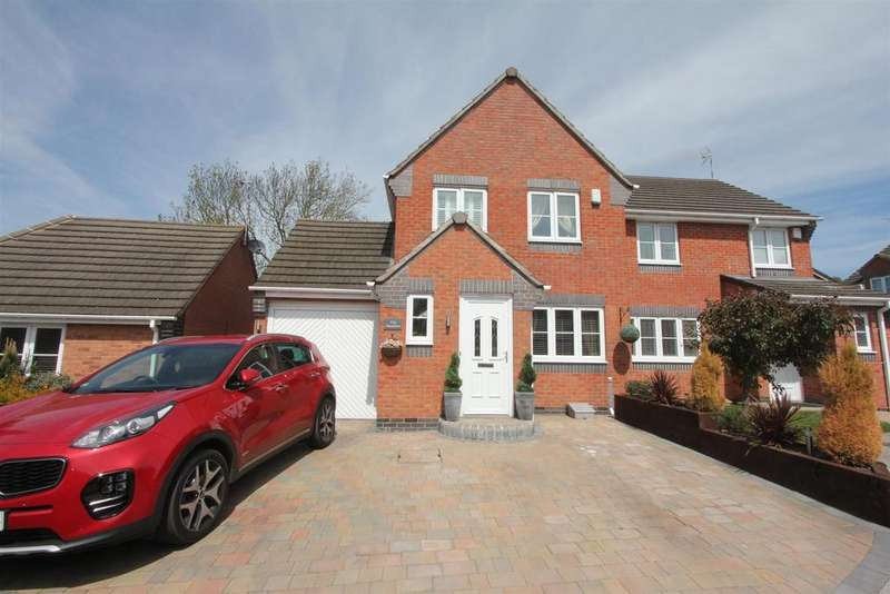 3 Bedrooms Semi Detached House for sale in Blake Close, Hinckley