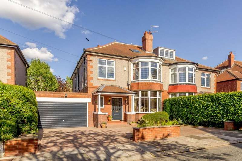 6 Bedrooms Semi Detached House for sale in Osbaldeston Gardens, Gosforth, Newcastle Upon Tyne, Tyne And Wear
