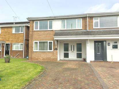 4 Bedrooms Semi Detached House for sale in Craithie Road, Vicars Cross, Chester, Cheshire, CH3