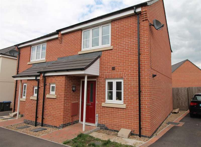 2 Bedrooms Semi Detached House for sale in Foxglove Avenue, Thurnby, Leicester LE7