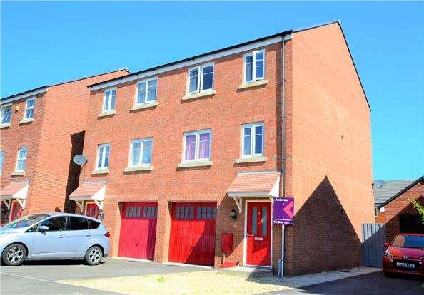 4 Bedrooms Town House for sale in Golden Arrow Way, Brockworth, Gloucester, GL3 4FZ