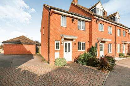 3 Bedrooms End Of Terrace House for sale in St. Johns Road, Arlesey, Bedfordshire, England