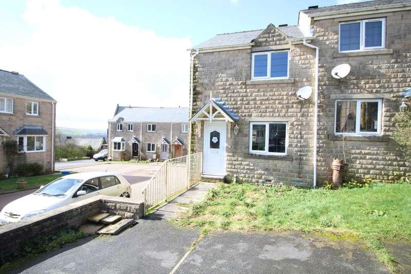 2 Bedrooms Semi Detached House for sale in Chiserley Gardens, Wadsworth, Hebden Bridge, West Yorkshire, HX7