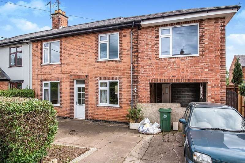 3 Bedrooms Semi Detached House for sale in Cross Lane, Mountsorrel, Loughborough, LE12
