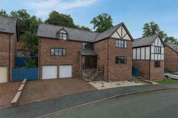 4 Bedrooms Detached House for sale in Malt Rise, Crew Green, Shrewsbury, Powys