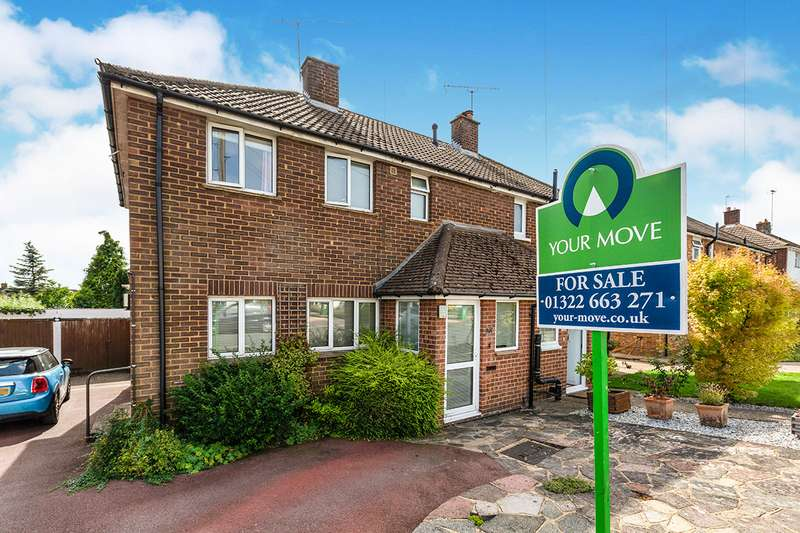 3 Bedrooms Semi Detached House for sale in Oxenhill Road, Kemsing, Sevenoaks, Kent, TN15