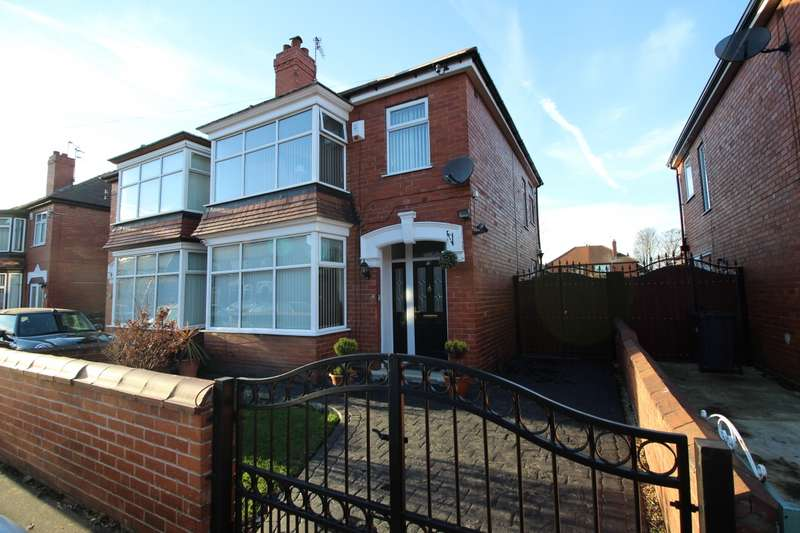 3 Bedrooms Semi Detached House for sale in Manor Drive, Bennetthorpe, Doncaster, South Yorkshire, DN2