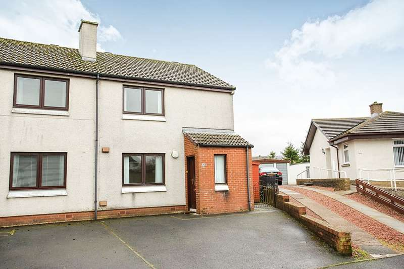 2 Bedrooms Semi Detached House for sale in Glenaylmer Road, Kirkconnel, Sanquhar, Dumfriesshire, DG4