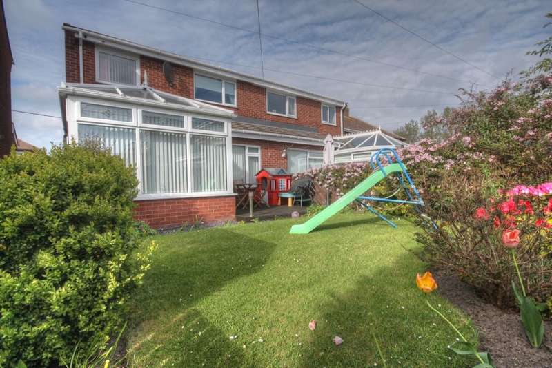 3 Bedrooms Semi Detached House for sale in Elsdon Gardens, Consett, DH8