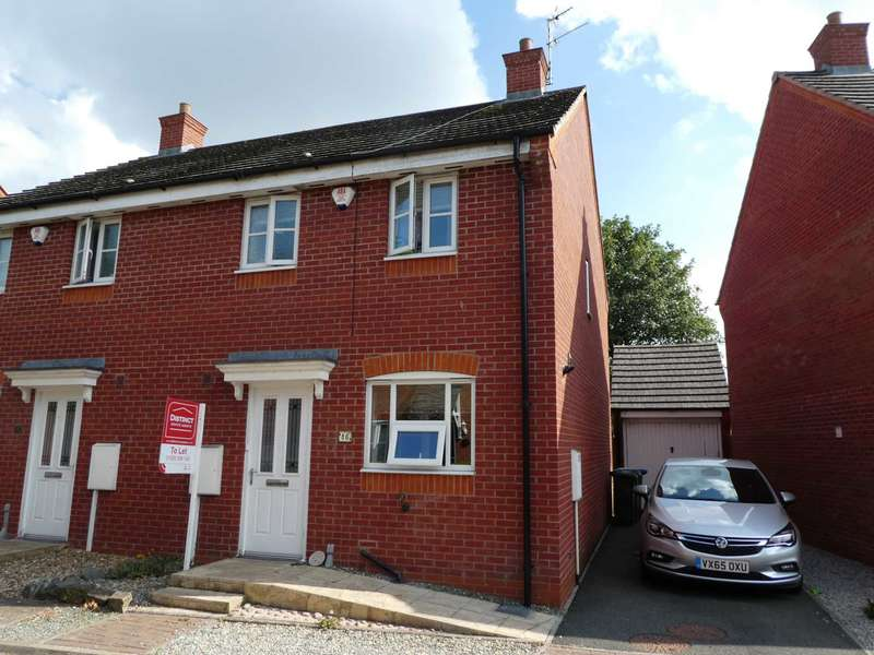 3 Bedrooms Semi Detached House for rent in Woodleigh Road, Long Lawford, Rugby, CV23 9FB