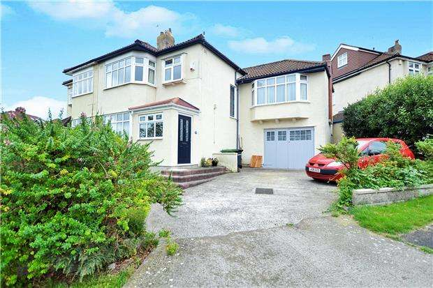 4 Bedrooms Semi Detached House for sale in Laurie Crescent, Henleaze, Bristol, BS9 4TA
