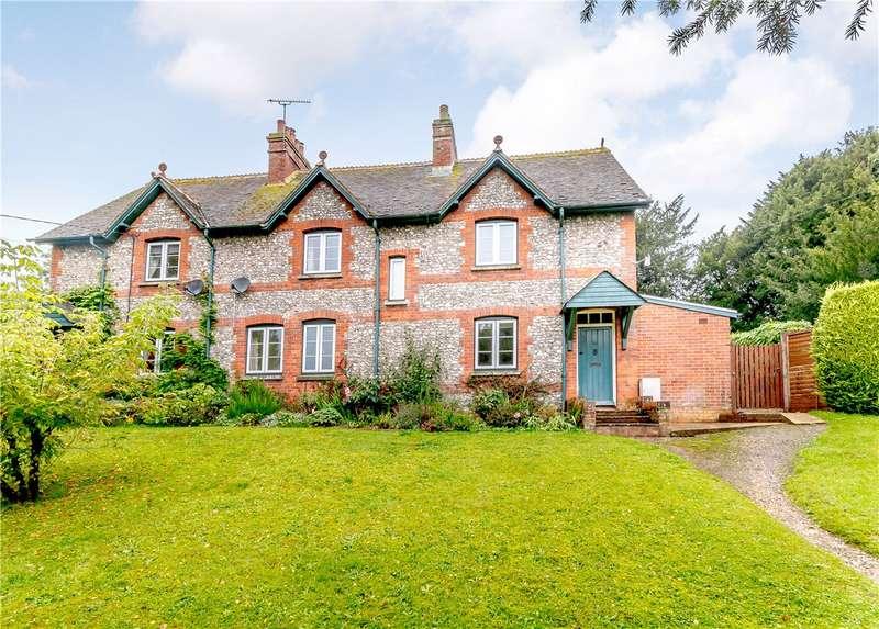 4 Bedrooms Semi Detached House for sale in Longstock, Stockbridge, Hampshire, SO20