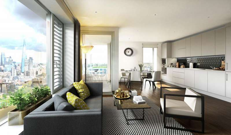 1 Bedroom Property for sale in Elephant Park, St. Gabriel Walk, London
