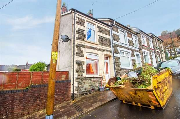 2 Bedrooms End Of Terrace House for sale in Russell Street, Brithdir, New Tredegar, Caerphilly