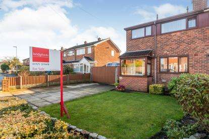 3 Bedrooms Semi Detached House for sale in Camborne Road, Burtonwood, Warrington, Cheshire