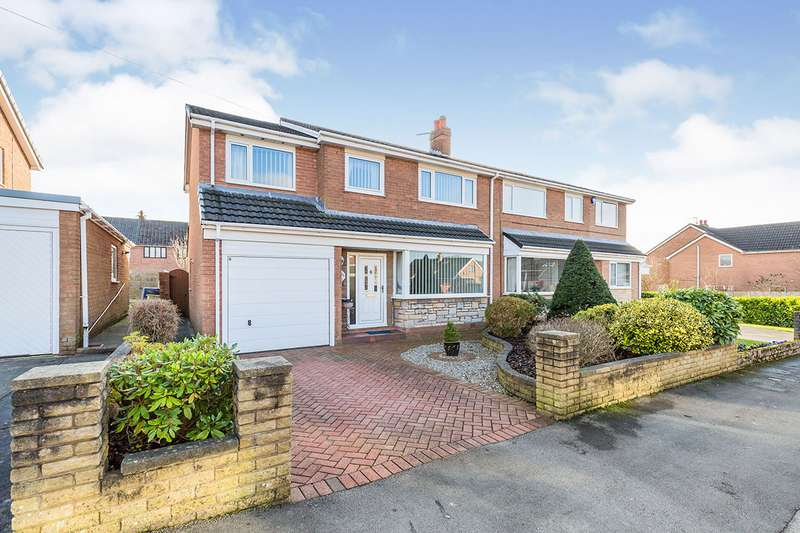4 Bedrooms Semi Detached House for sale in Bristol Avenue, Farington, Leyland, Lancashire, PR25