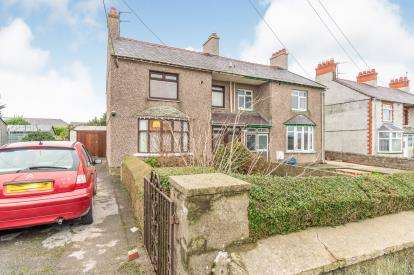 3 Bedrooms Semi Detached House for sale in Station Road, Valley, Holyhead, Sir Ynys Mon, LL65