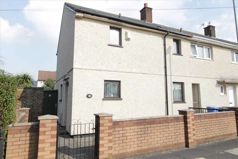 2 Bedrooms End Of Terrace House for sale in Mottram Close, Kirkby