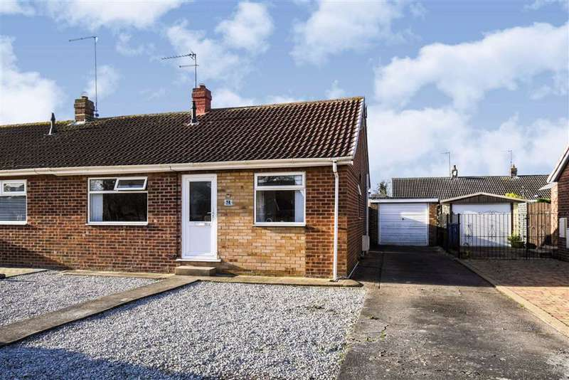 2 Bedrooms Semi Detached Bungalow for sale in Sextant Road, HULL, HU6