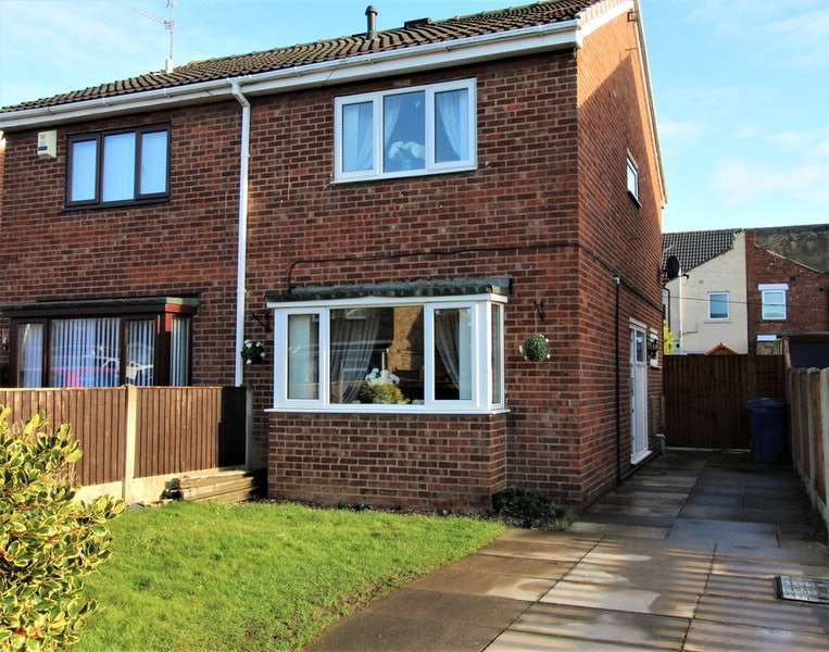 2 Bedrooms Semi Detached House for sale in Belvedere Close, Doncaster, South Yorkshire, DN6