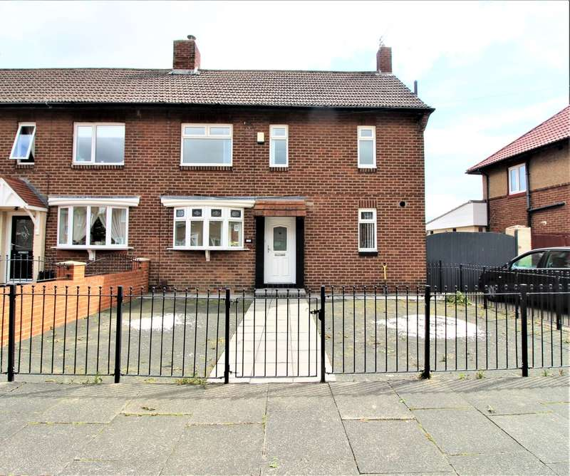 3 Bedrooms Semi Detached House for rent in Elmtree Gardens, Whitley Bay