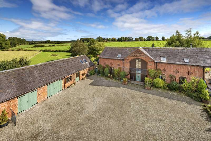 4 Bedrooms Barn Conversion Character Property for sale in The Hayloft, Meeson, Telford, Shropshire, TF6
