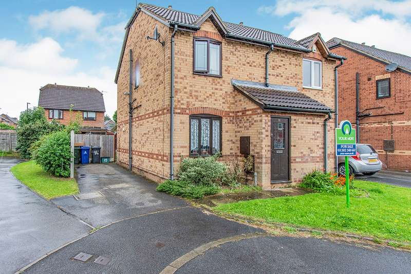 2 Bedrooms Semi Detached House for sale in Boundary Close, Edlington, DN12