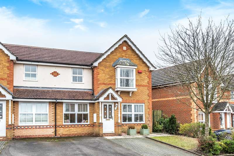 3 Bedrooms Semi Detached House for sale in Yellowhammer Road, Gabriel Park, Basingstoke, RG22