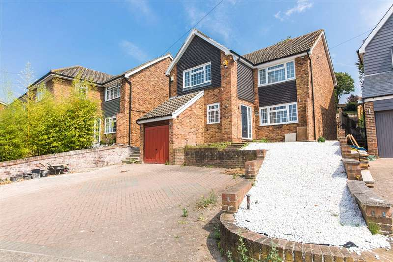 4 Bedrooms Detached House for sale in Downs Road, Istead Rise, Kent, DA13