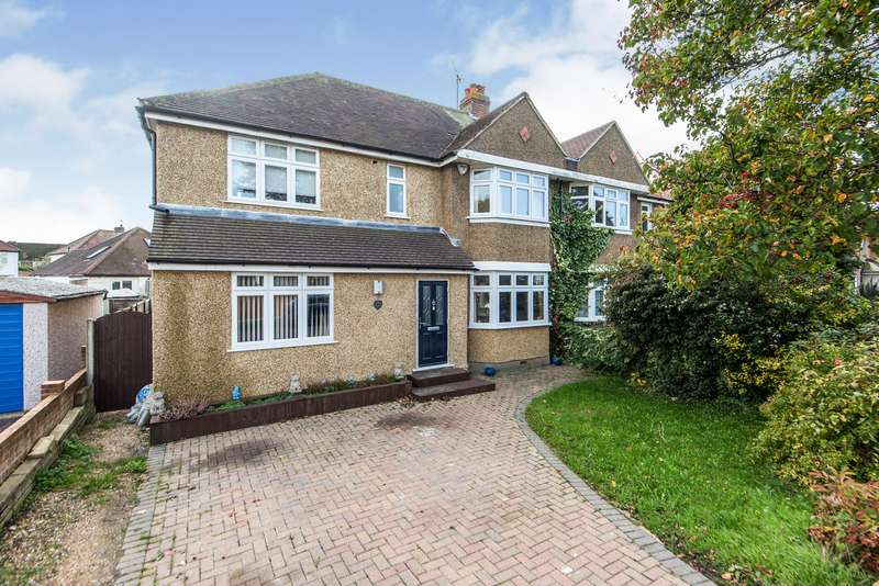 4 Bedrooms Semi Detached House for sale in Vallis Way, Chessington, KT9